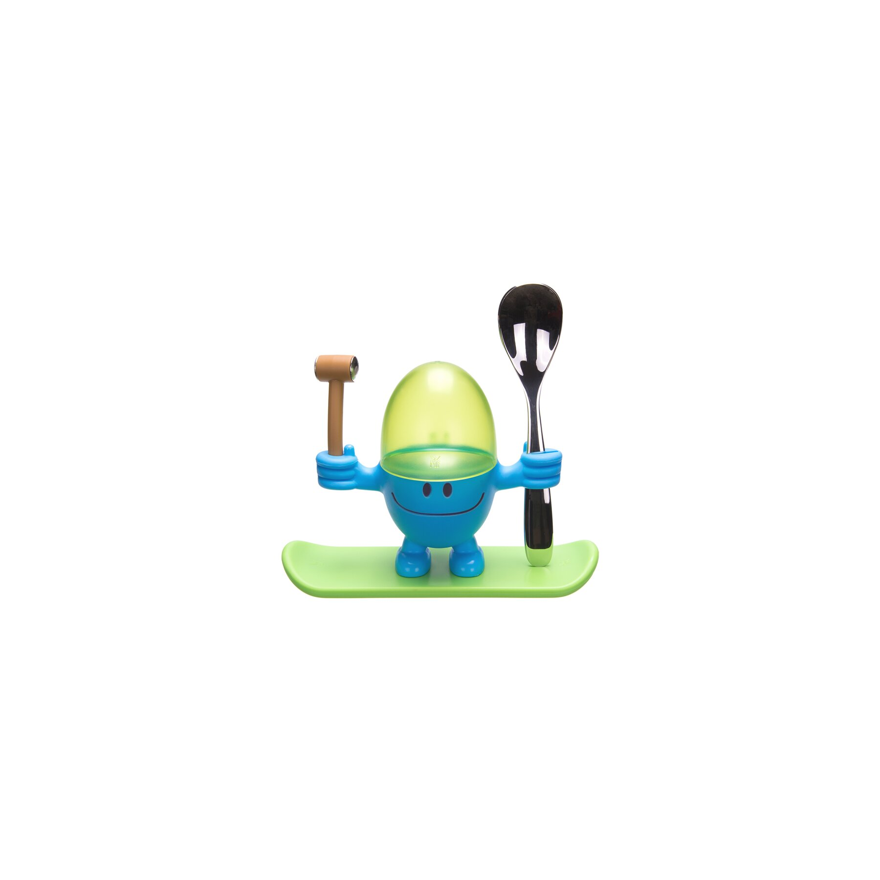 wmf mr egg eierbecher blau l ffel mit wunschname graviert 19 95. Black Bedroom Furniture Sets. Home Design Ideas